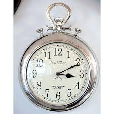 wall clock pocket watch silver pocket watch wall clock large silver pocket watch wall clock