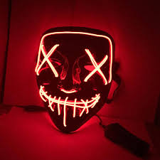 Led Light Up Mask Purge Halloween Mask Led Light Up Funny Masks The Purge Election Year Great Festival Cosplay Costume Supplies Party Masks Glow In Dark Wholesale Led Rave