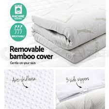 mattress topper queen. cool-gel-memory-foam-mattress-topper-bamboo-fabric- mattress topper queen