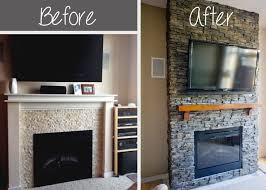 diy stacked stone fireplace first remodeling project part
