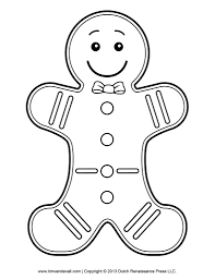 Small Picture Gingerbread Girl Outline Printable Coloring Coloring Pages