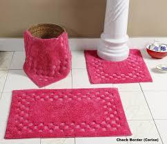 pinky bathroom rug sets 5 piece for sweet look