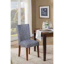 homepop blue etched woven parson chair set of 2 by homepop dining chair setdining room