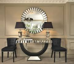 mirrored office furniture.