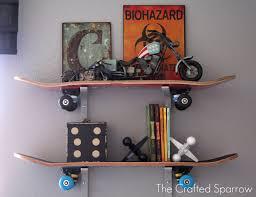 Skateboard Bedroom Decor Stunning Skateboard Shelves Diy Images Inspiration Surripuinet