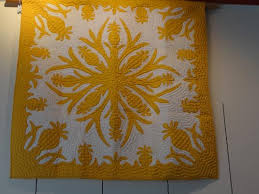 Yellow mustard color, Hawaiian Quilt - Picture of Hawaiian Quilt ... & Hawaiian Quilt Collection & Class: Yellow mustard color, Hawaiian Quilt Adamdwight.com