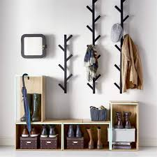 use two same size of these coat racks on either side of the large mirror,. Coat  HangerCoat RacksWall ...