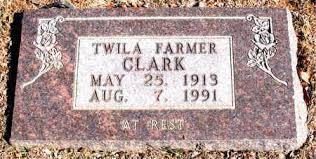 FARMER CLARK, TWILA - Carroll County, Arkansas | TWILA FARMER CLARK -  Arkansas Gravestone Photos