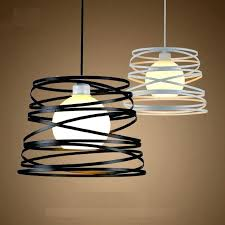 white pendant light shade simple iron spiral pendant lamp light shade black white for kitchen island dining room white glass pendant light shade white and