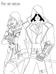 Assassins Creed Coloring Pages Print And Colorcom