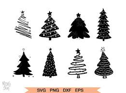 Christmas Tree Silhouette Graphic By Roxysvg26 Creative Fabrica Christmas Tree Clipart Christmas Svg Files Christmas Tree Silhouette