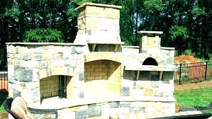 outdoor fireplace pizza oven combo kit insert