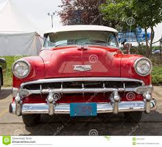 1954 Red Chevy Bel Air Front View Editorial Image - Image: 36570590