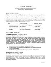 resume for graphic designers graphic designer resume sample monster com