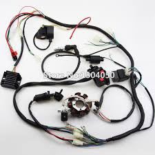 popular atv wiring harness buy cheap atv wiring harness lots from 150 200cc 250cc 300cc atv quad full electrics wiring harness rectifier cdi coil ngk solenoid rectifier