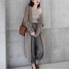 BARESKIY <b>cashmere</b> sweater female wool knit cardigan long loose ...