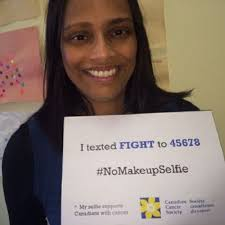 nomakeupselfie cancer fundraising caign facebook rowena pinto vice president public affairs and strategic initiatives for the canadian cancer