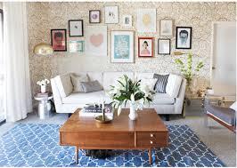 oh joy living room rug over carpet