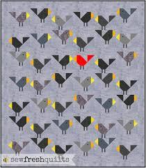 Black Birds Quilt Pattern, PDF, Instant Download, modern patchwork ... & Black Birds Quilt Pattern, PDF, Instant Download, modern patchwork, bird,  baby Adamdwight.com