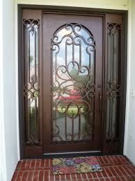 Single Entry Wrought Iron Doors Decorative Doors  Gates - Iron exterior door