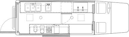 food truck floor plans. Coffee Sprinter Van Floor Plan Food Truck Plans