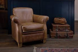 the vintage leather armchair