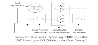 is it possible to wire a manual override switch around the dcr100
