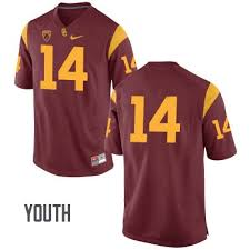 Jersey Trojans Sam College Red Stiched Name Darnold 14 No Usc Youth