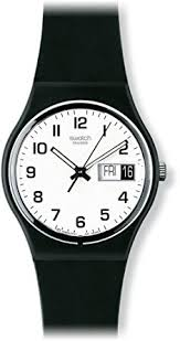 swatch once again white dial black strap mens watch swatch swatch once again white dial black strap mens watch