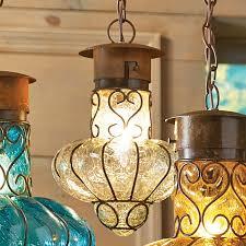 southwestern flower glass pendant light um