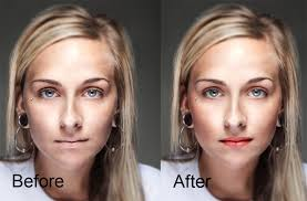 makeup photo before and after