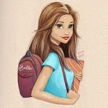 art beauty and the beast belle book bag disney princess drawing