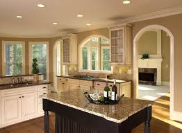 Santa Cecilia Granite Kitchen Furniture Rustic Kitchen With White Kitchen Island Feat Cream