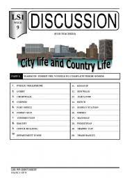 english teaching worksheets city life country life english worksheets speaking city life and country life