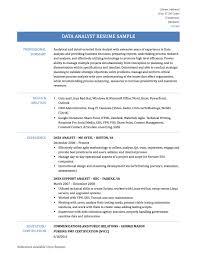 resume resume data analyst