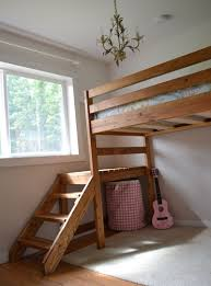 camp loft bed with stair junior height loft bed plans with stairs