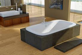 americh drop in whirlpool bathtub installed