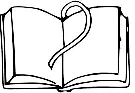 drawing an open book white clipart open book