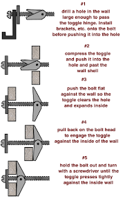 stages of a toggle wall anchor wall