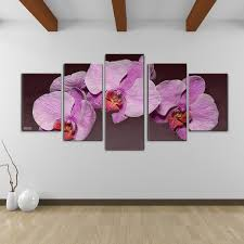 bruce bain x27 purple orchid x27 canvas wall art  on orchid canvas wall art with shop bruce bain purple orchid canvas wall art 5 piece set free
