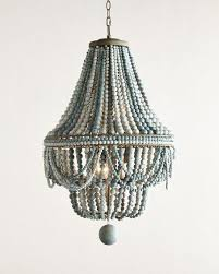 gallery of white wood beads and iron basket chandelier cerulean chandeliers petite blue beaded 5