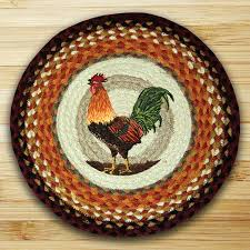 rooster braided jute chair pad by capitol earth rugs