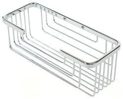 chrome wall mounted shower caddy