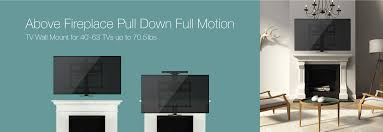 mono above fireplace pull down full motion articulating tv wall