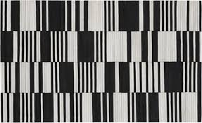 bond black and white hide rug