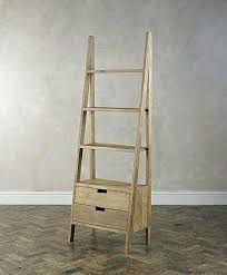 teak ladder bookcase with drawers bathroom bookshelves and shelves shelf uk leaning ladder shelf with drawers