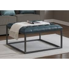 navy leather ottoman. Plain Navy Jasper Laine Healy Teal Leather Tufted Ottoman On Navy V