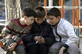 no cell phones in school youthink let s be the generation  boys looking at cellphone