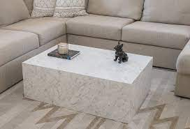 marble finish custom coffee table