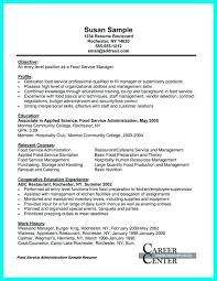 Food Service Manager Resume Assistant Manager Resume Food Service